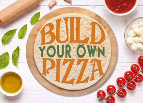 BUILD YOUR OWN or 1/2 & 1/2 PIZZA