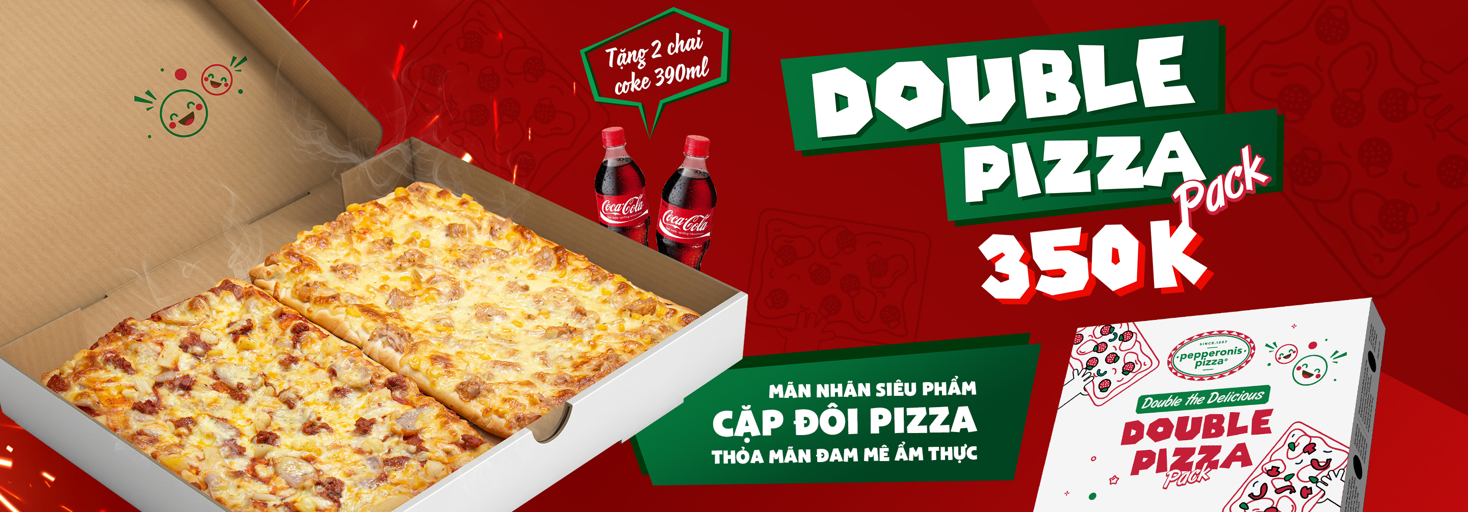 DOUBLE PIZZA PACK 350K